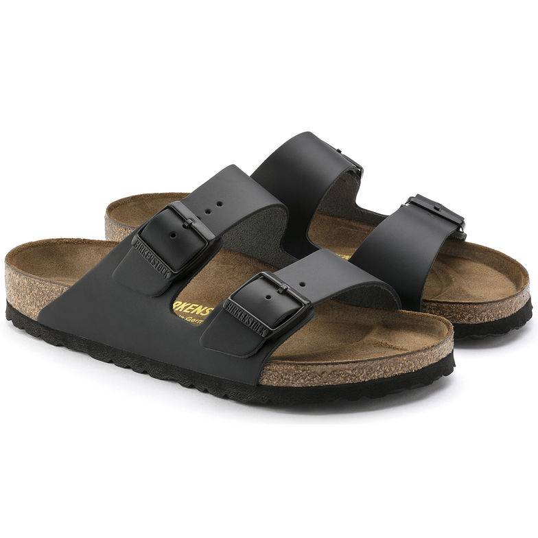 BIRKENSTOCK Arizona 2-Riemen-Sandale schwarz Black leather Leder Leder normal