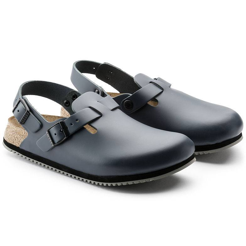 BIRKENSTOCK Tokio Superlauf Clogs blau Blau Naturleder Leder normal