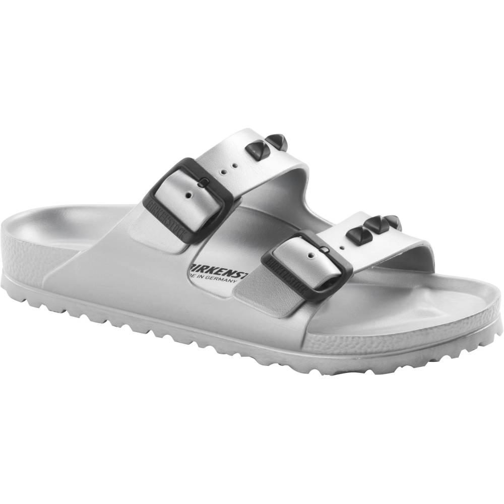 BIRKENSTOCK Arizona EVA 2-Riemen-Sandale Silber Studded Silver EVA schmal