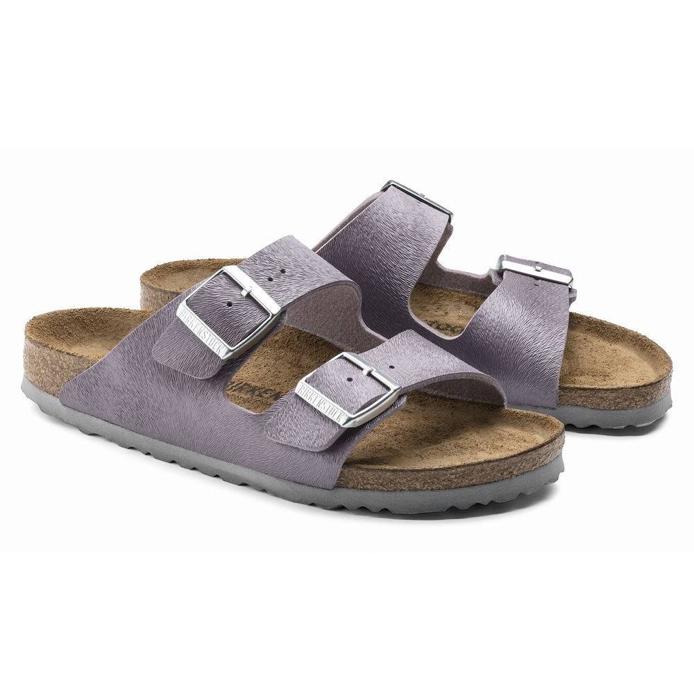 BIRKENSTOCK Arizona 2-Riemen-Sandale purple Animal Purple Birko-Flor Leder normal