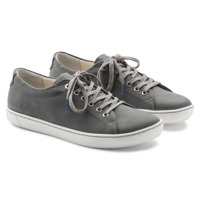 BIRKENSTOCK Arran Sneaker grau grey Textil Leder schmal