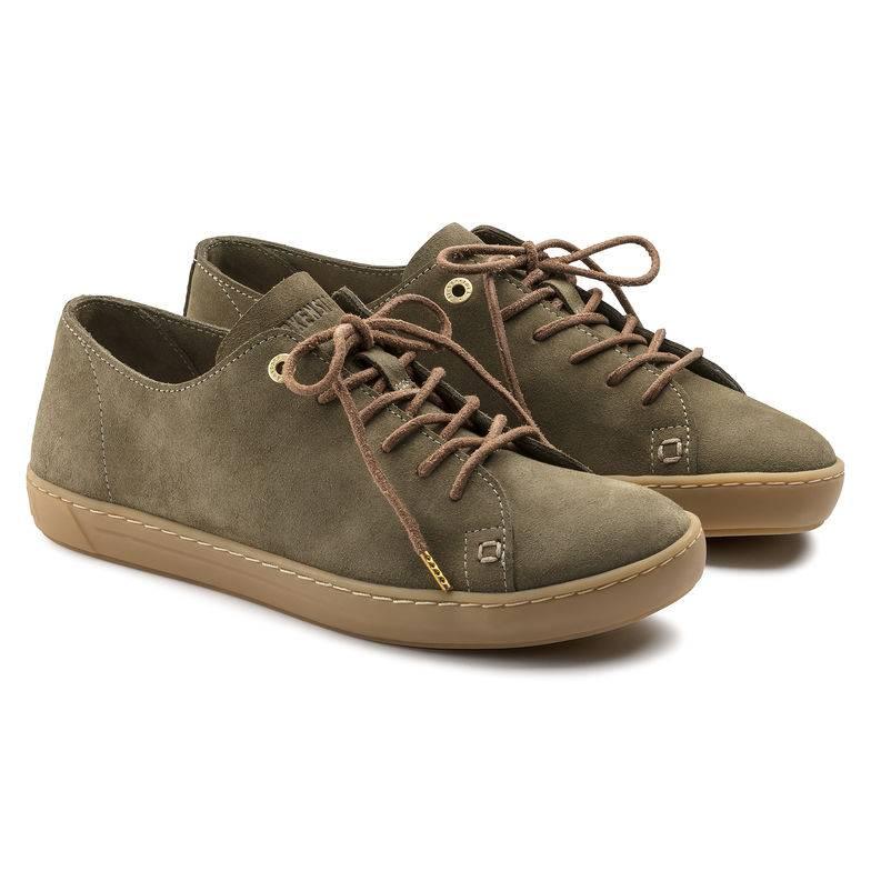 BIRKENSTOCK Arran Sneaker khaki Khaki Velourleder Leder normal