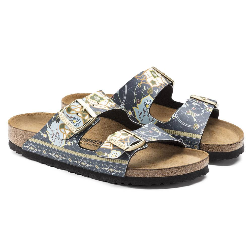 BIRKENSTOCK Arizona 2-Riemen-Sandale Ancient Mosaic Blue Birko-Flor Leder normal