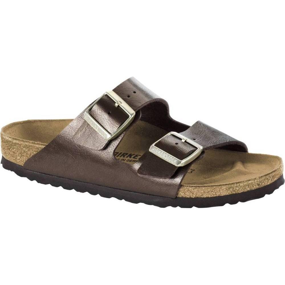 BIRKENSTOCK Arizona 2-Riemen-Sandale beige braun Toffee Birko-Flor Leder normal