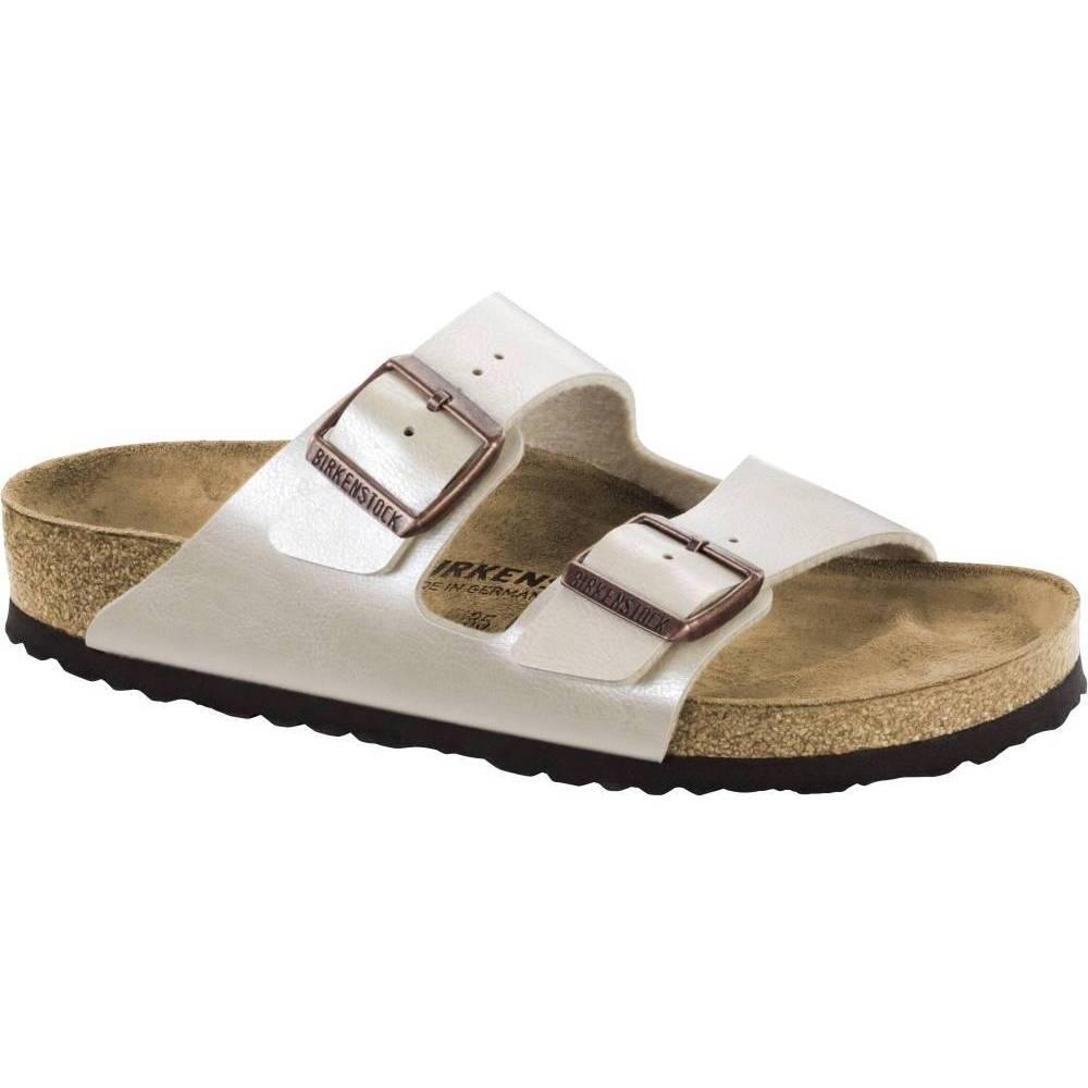 BIRKENSTOCK Arizona 2-Riemen-Sandale perlweiß Pearl White BirkoFlor Leder normal