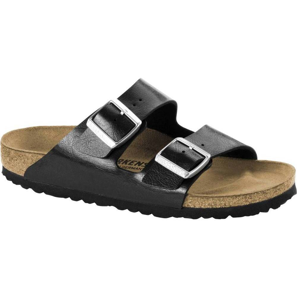 BIRKENSTOCK Arizona 2-Riemen-Sandale lakritz Licorice Birko-Flor Leder normal