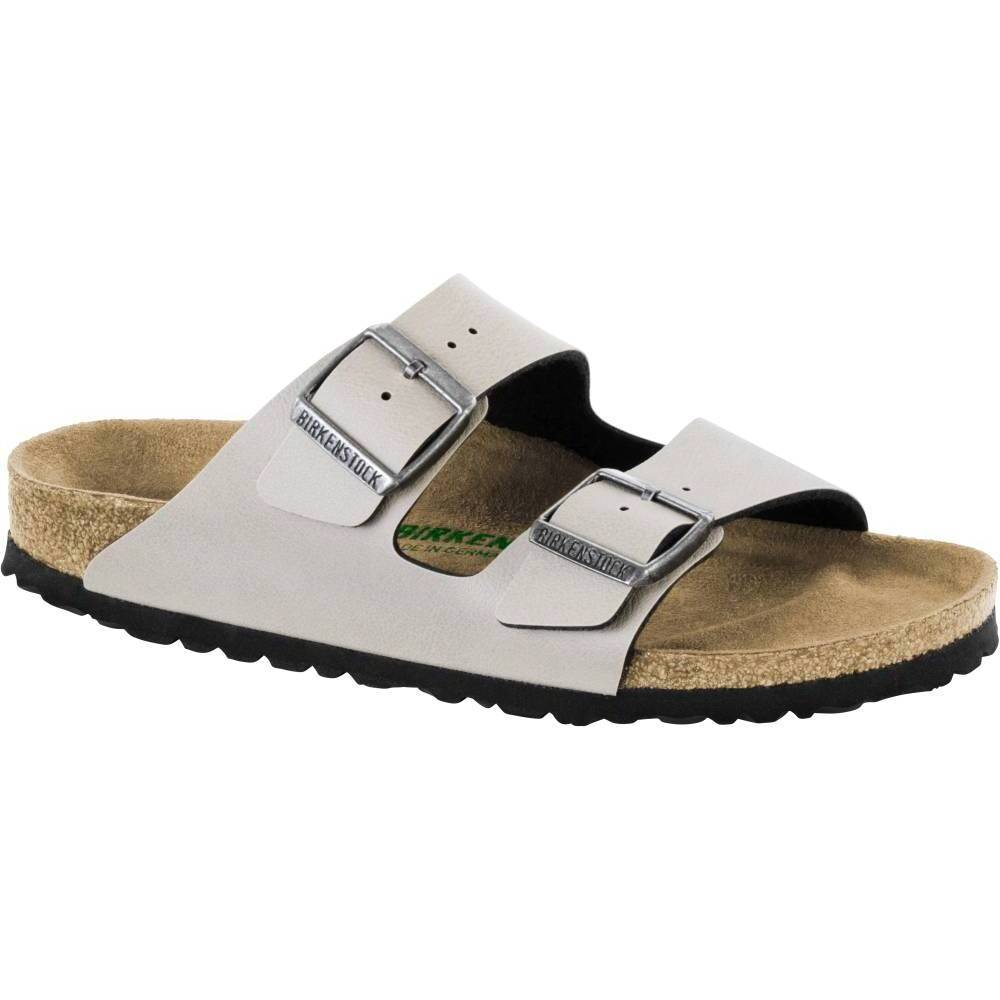 BIRKENSTOCK Arizona 2-Riemen-Sandale stone Pull Up Stone Birko-Flor Vegan normal