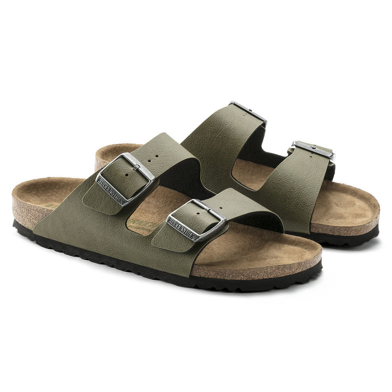 BIRKENSTOCK Arizona 2-Riemen-Sandale olive Pull Up Olive Birko-Flor Vegan normal