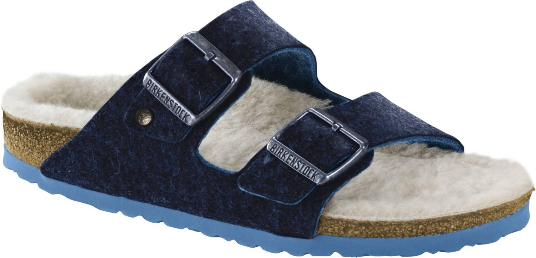 Birkenstock Arizona blau Doubleface Blue 2-Riemen-Sandale Unisex Weite normal