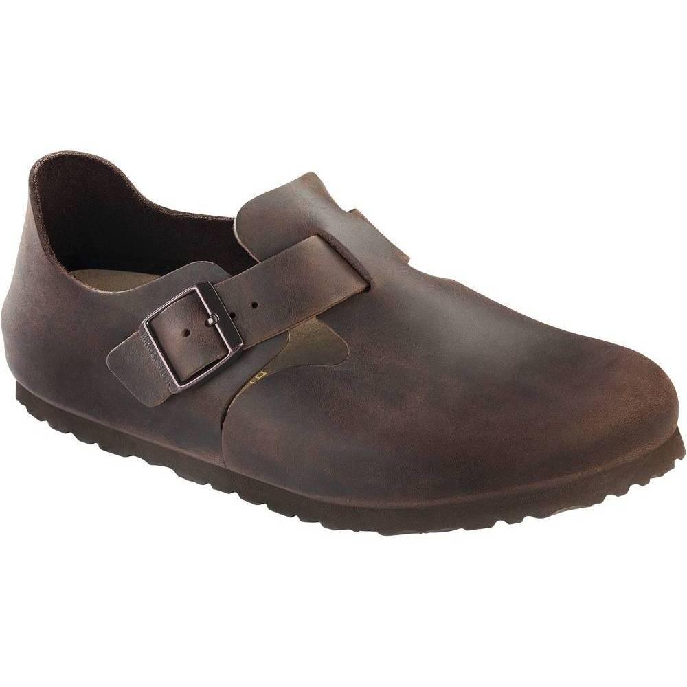 BIRKENSTOCK London Halbschuhe Fettleder Fettleder Halbschuhe Unisex Schuhe 673140