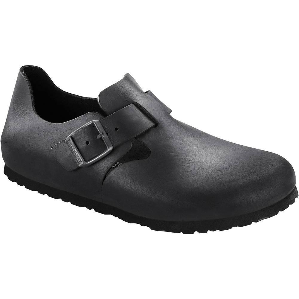 BIRKENSTOCK London Halbschuhe schwarz Schwarz Fettleder Leder normal