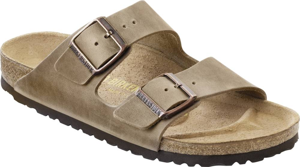 BIRKENSTOCK Arizona 2-Riemen-Sandale braun Tabacco Brown Leder Leder normal