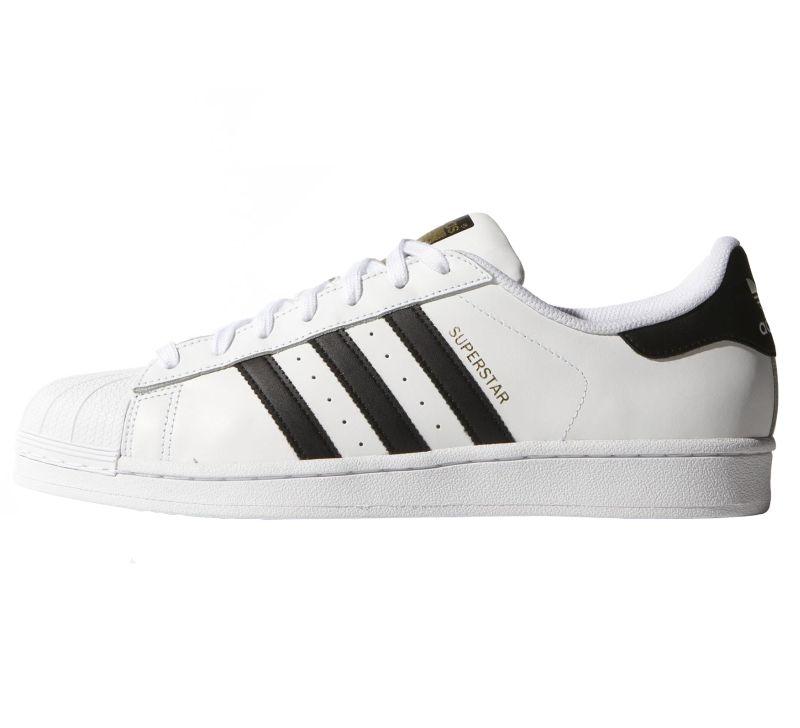 Adidas Superstar weiß schwarz Leder Sneaker Skate Schuhe Low-Cut C77124