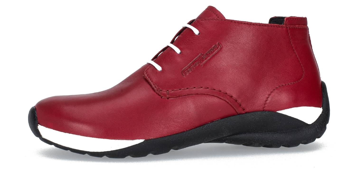 Camel Active Moonlight 73 rot red Velvet Cow Schuhe Hi-Cut Sneaker Damen