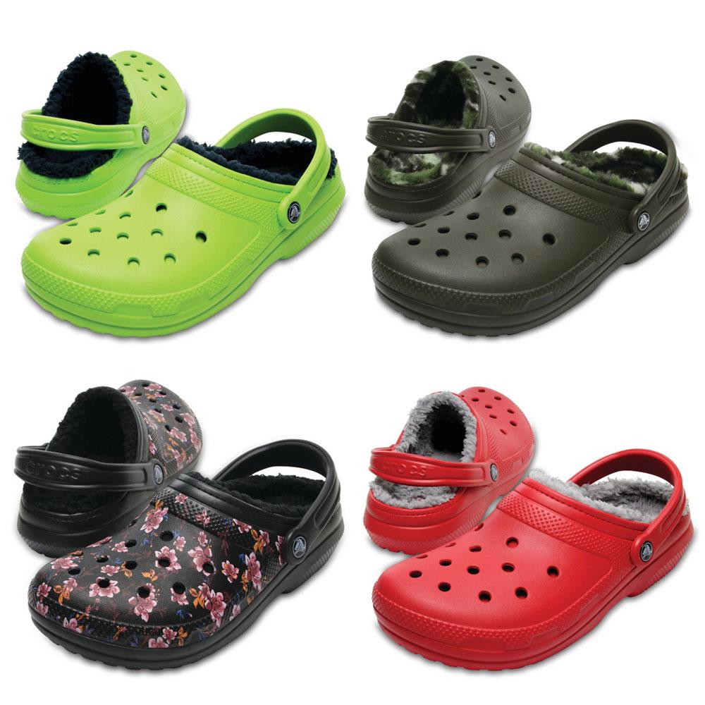 Crocs Classic Lined Clog Graphic Clogs Hausschuhe Gartenschuhe Freizeitschuhe
