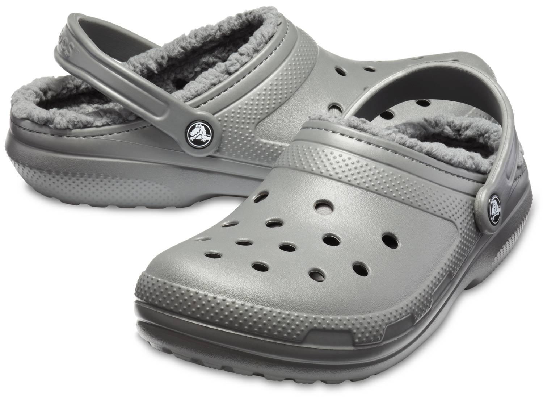 Crocs Classic Lined Clog grau slate grey smoke Clogs Hausschuhe Gartenschuhe