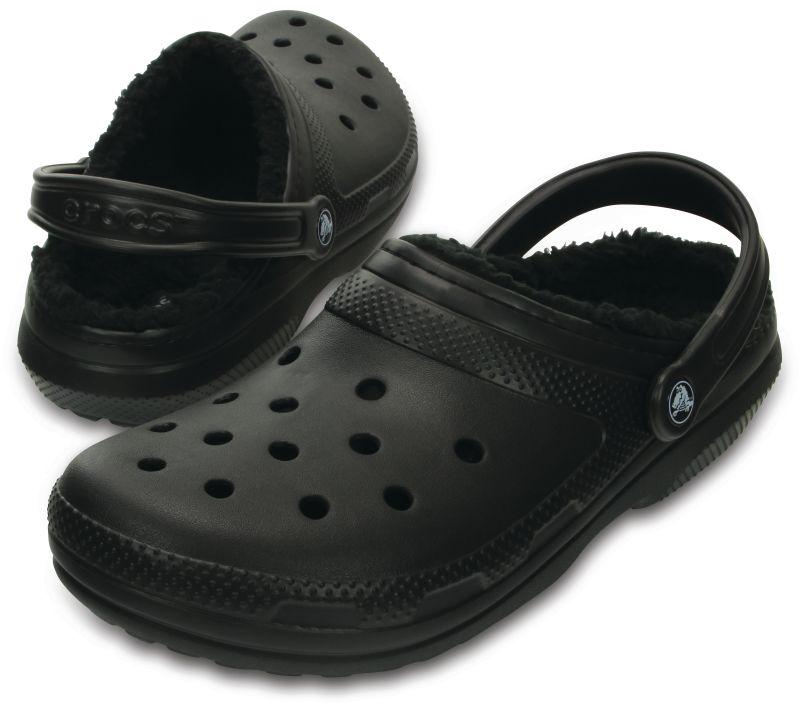 Crocs Classic Lined Clog Black Schwarz Winter Schuhe Schlappe CAL1