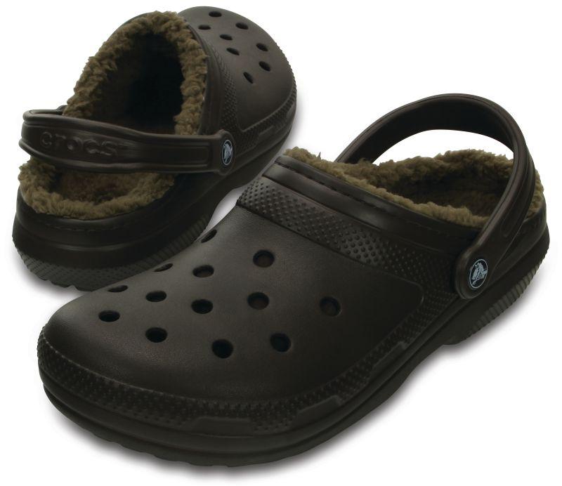 Crocs Classic Lined Clog Braun Espresso Winter Schuhe Schlappe CAL2