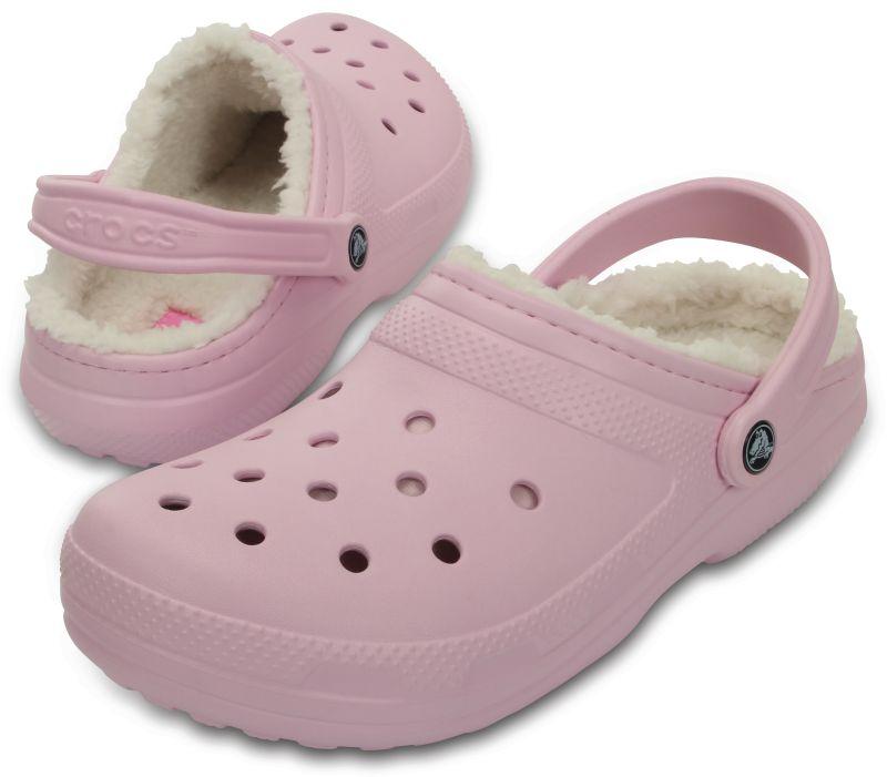 Crocs Classic Lined Clog Ballerina Pink Winter Schuhe Schlappe CAL5