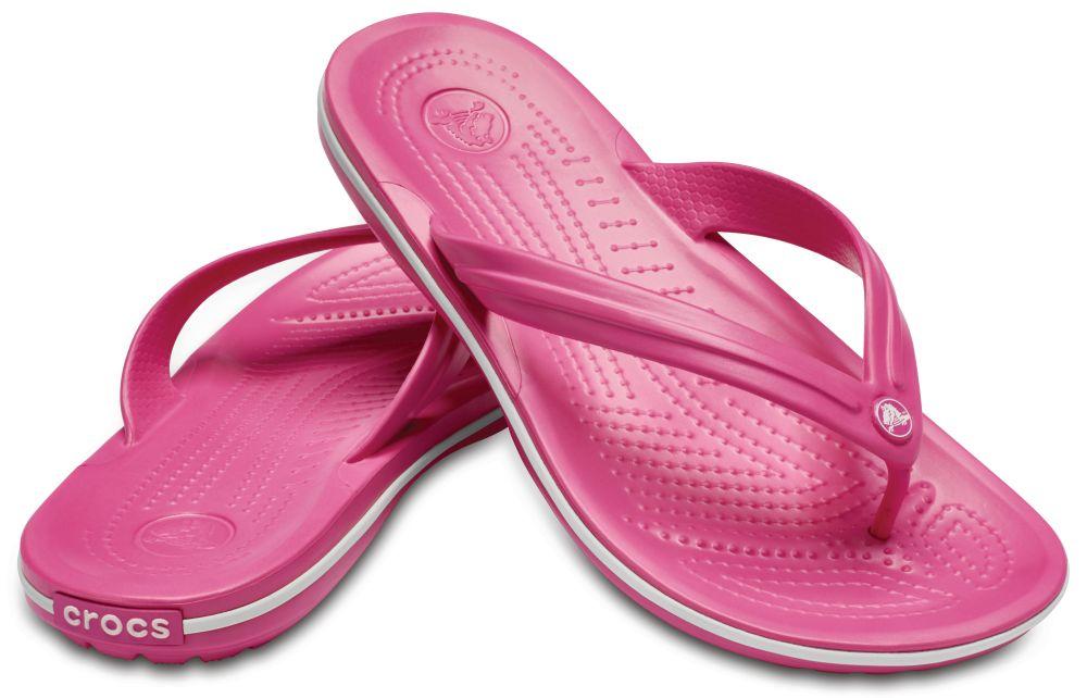CROCS Crocband Flip Sandalen Zehentrenner Pink Paradise Pink White