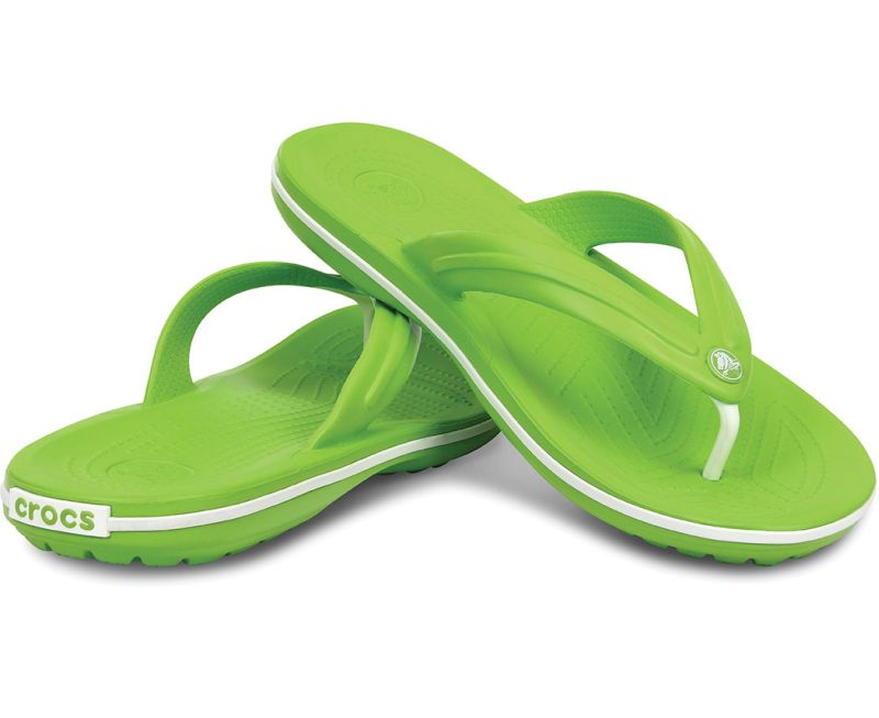 Crocs Crocband Flip Grün Weiß Clogs Schuhe Schlappe Latschen CBF5