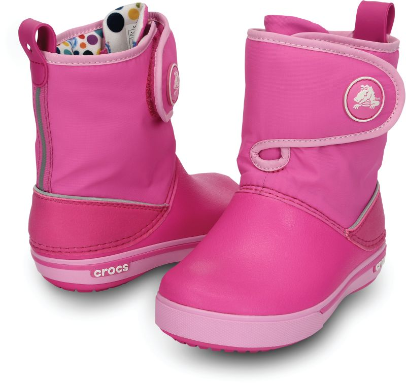 Crocs Kids Crocband II.5 Gust Boot Neon Pink Kinder Regen Gummistiefel CGB4