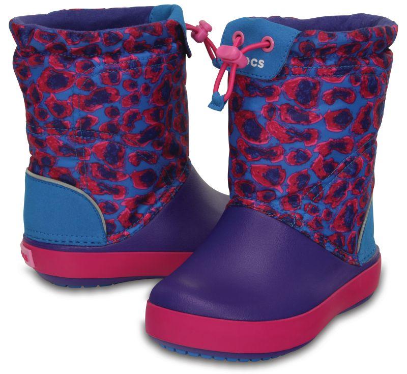 Crocs Kids Crocband LodgePoint Graphic Boot Lila Kinder Gummistiefel CLBG2