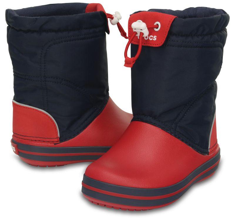 Crocs Kids Crocband LodgePoint Boot Navyblau Rot Kinder Gummistiefel CLP2