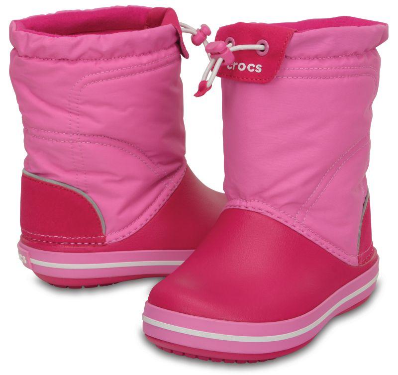 Crocs Kids Crocband LodgePoint Boot Candy Pink Rosa Kinder Gummistiefel CLP4