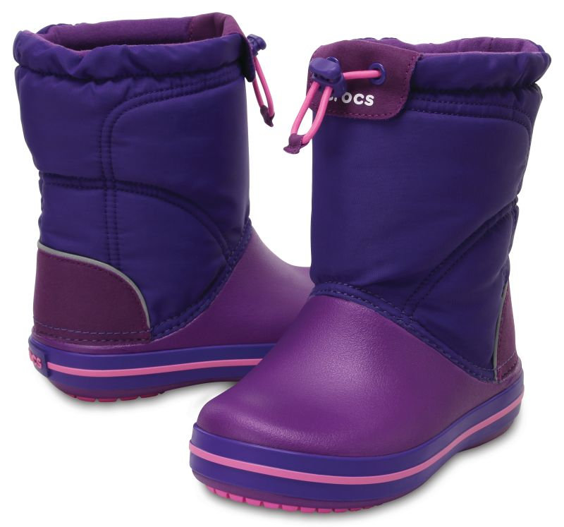 Crocs Crocband LodgePoint Boot Kids lila violett Gummistiefel Winterstiefel