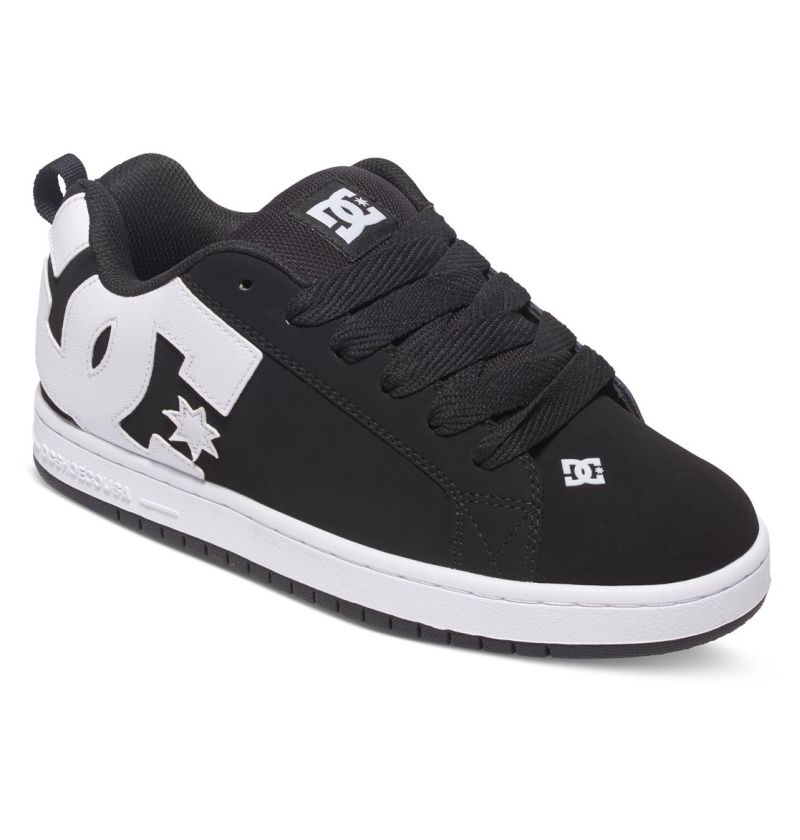 DC Shoes Court Graffik Schwarz Wildleder Skate Schuhe Sneaker 300529/001