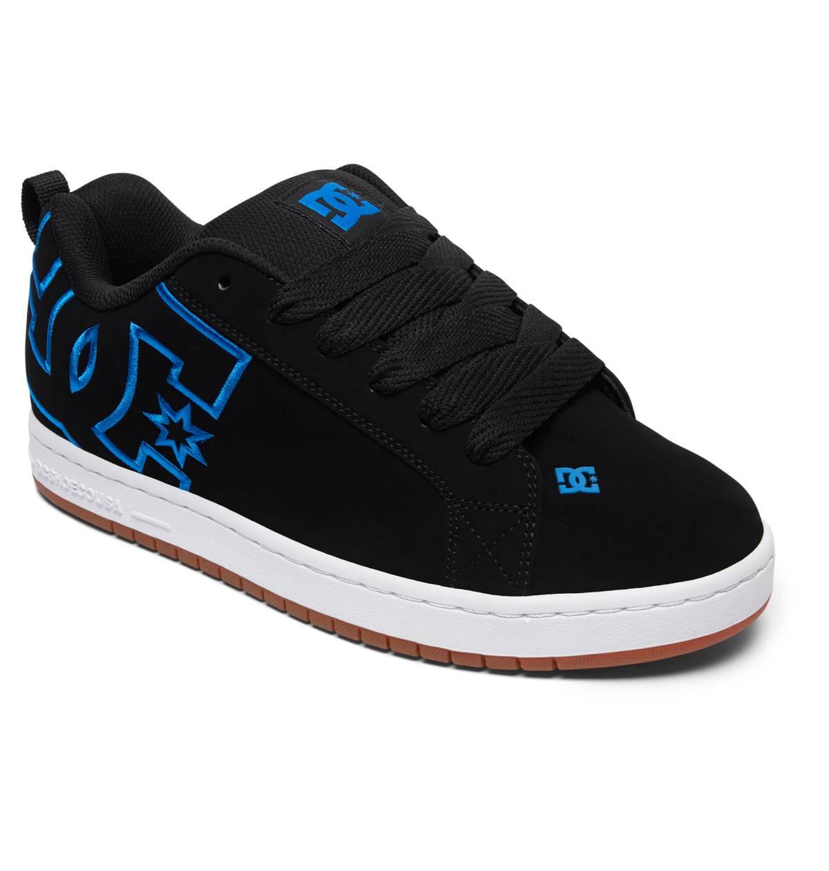 DC SHOES Court Graffik Sneaker Freizeitschuhe Skateschuhe schwarz Blau Leder