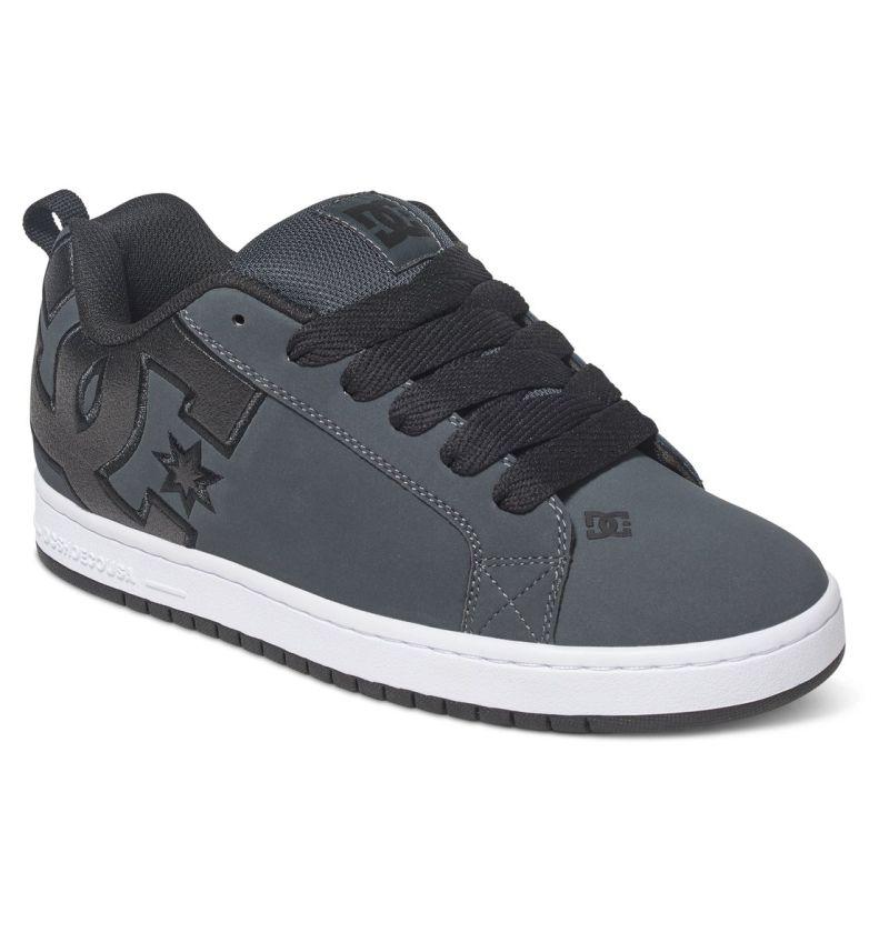 DC Shoes Court Graffik SE Grau Weiß Wildleder Skate Sneaker D0300927/GRW