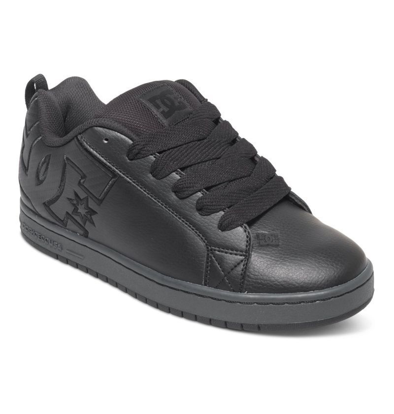 DC Shoes Court Graffik SE Schwarz Wildleder Skate Schuhe Sneaker 300927/BK3