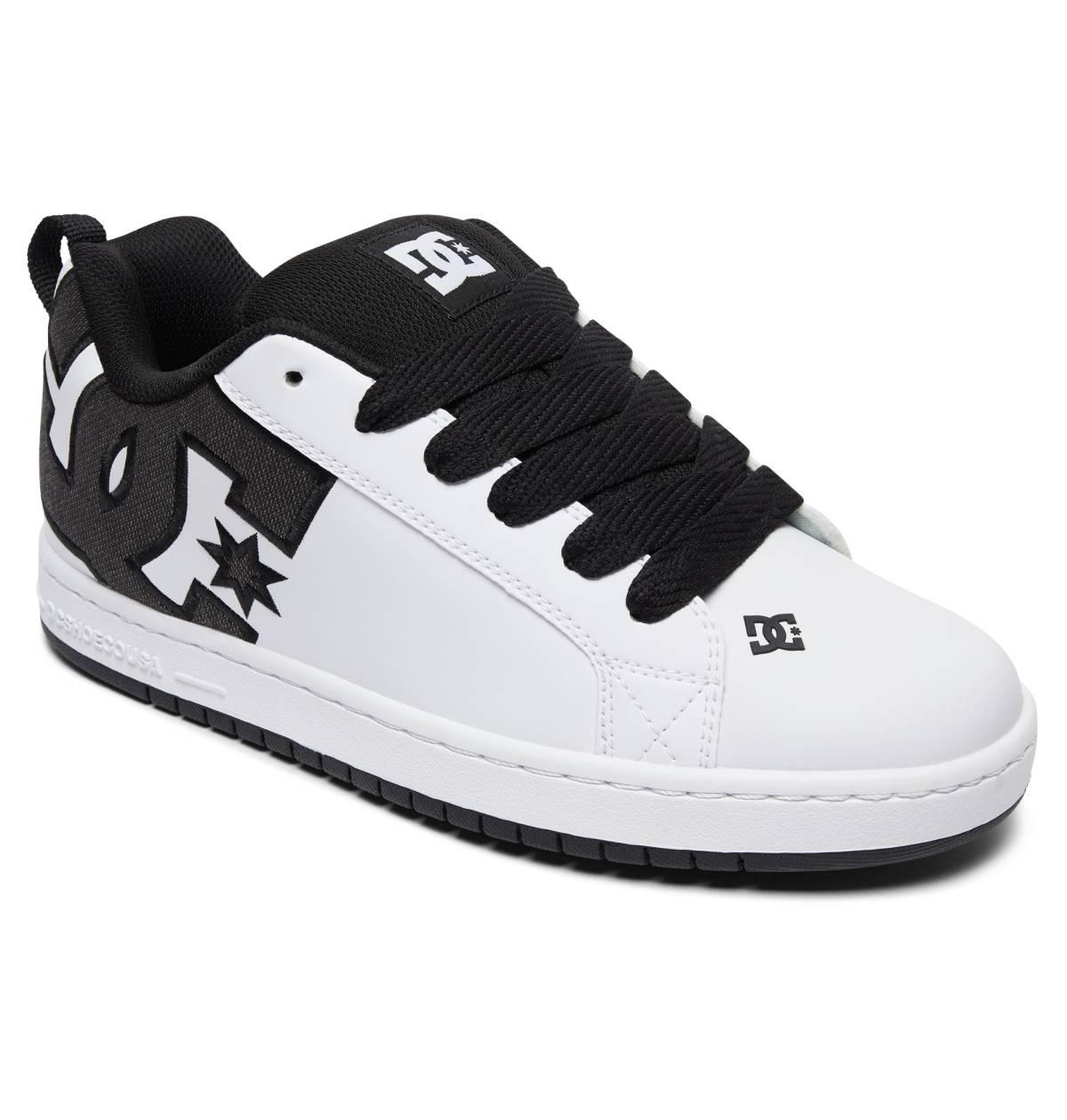 DC SHOES CT Graffik Sneaker Freizeitschuhe Skateschuhe schwarz Black White Leder