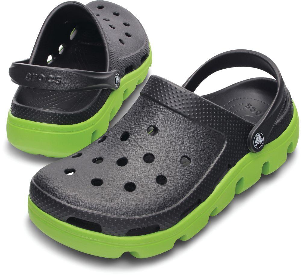 Crocs Duet Sport Clog Graphite Grün Clogs Hausschuhe Freizeitschuhe Unisex