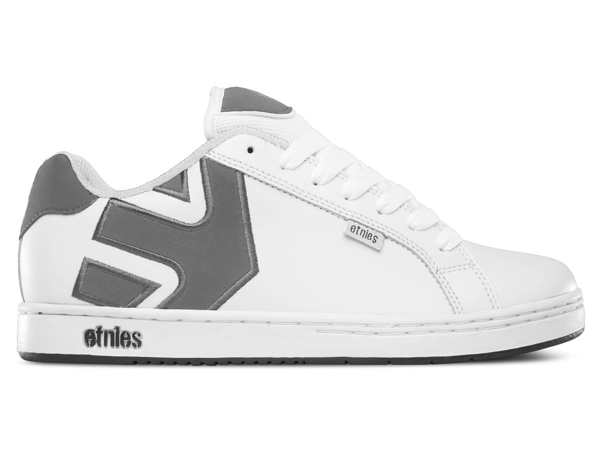 Etnies Fader weiß grau white grey gum Schuhe Low-Cut Sneaker Skateschuhe Herren
