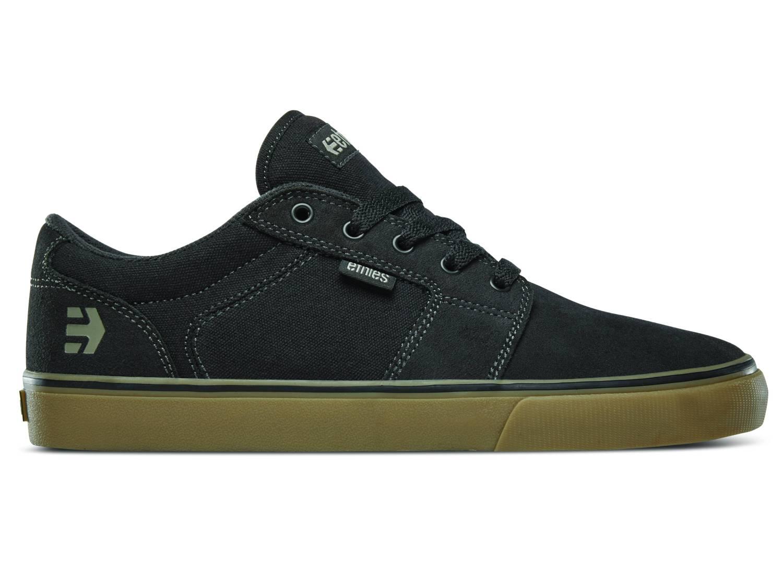 Etnies Barge LS schwarz grau black charcoal gum Low Sneaker Skateschuhe Herren