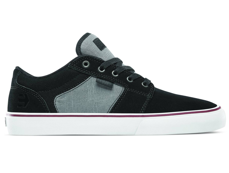 Etnies Barge LS schwarz grau black dark grey silver Low Sneaker Skateschuhe