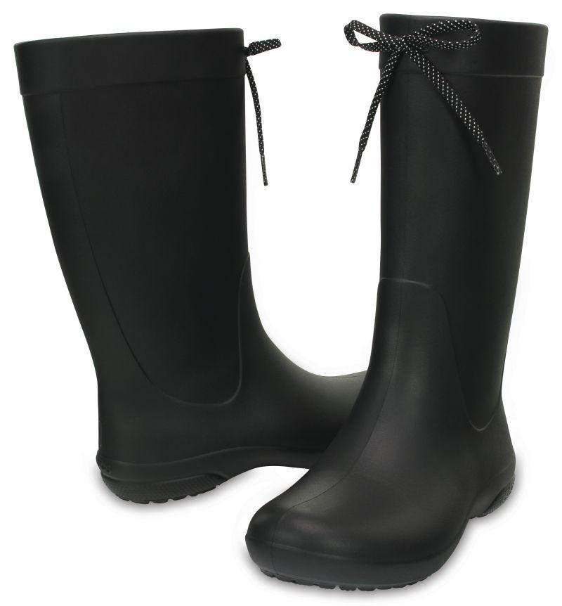 Crocs Freesail Rain Boot Women Damen Schwarz Black Gummistiefel Schuhe FRB1