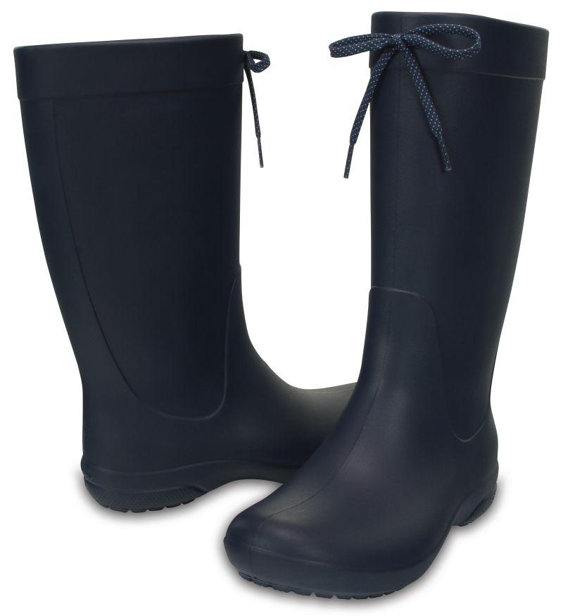 Crocs Freesail Rain Boot Women Damen Navy Blau Gummistiefel Schuhe FRB2