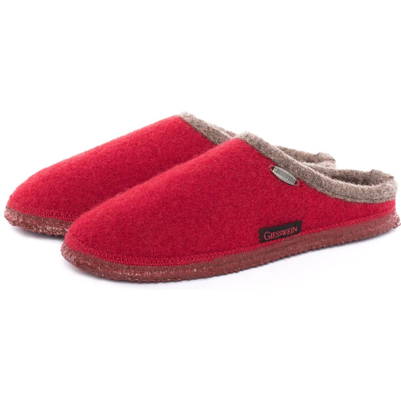Giesswein Dannheim rot kirsche kirsche Schuhe Pantoffel Hausschuhe Damen