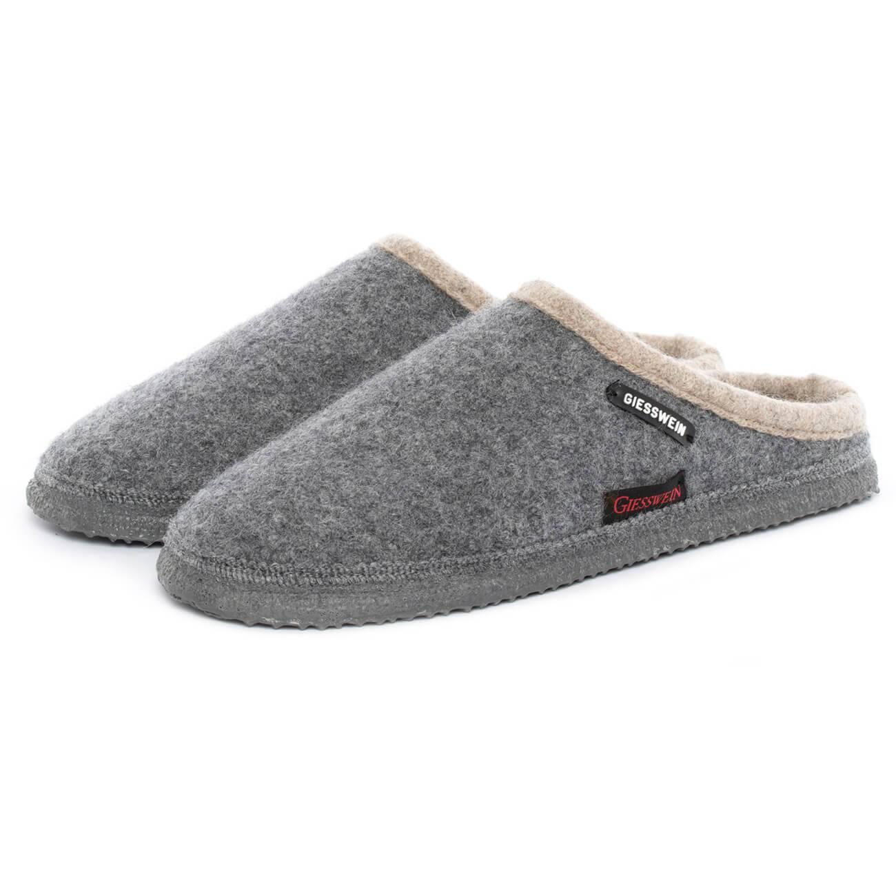 Giesswein Dannheim grau schiefer Schuhe Pantoffel Hausschuhe Damen