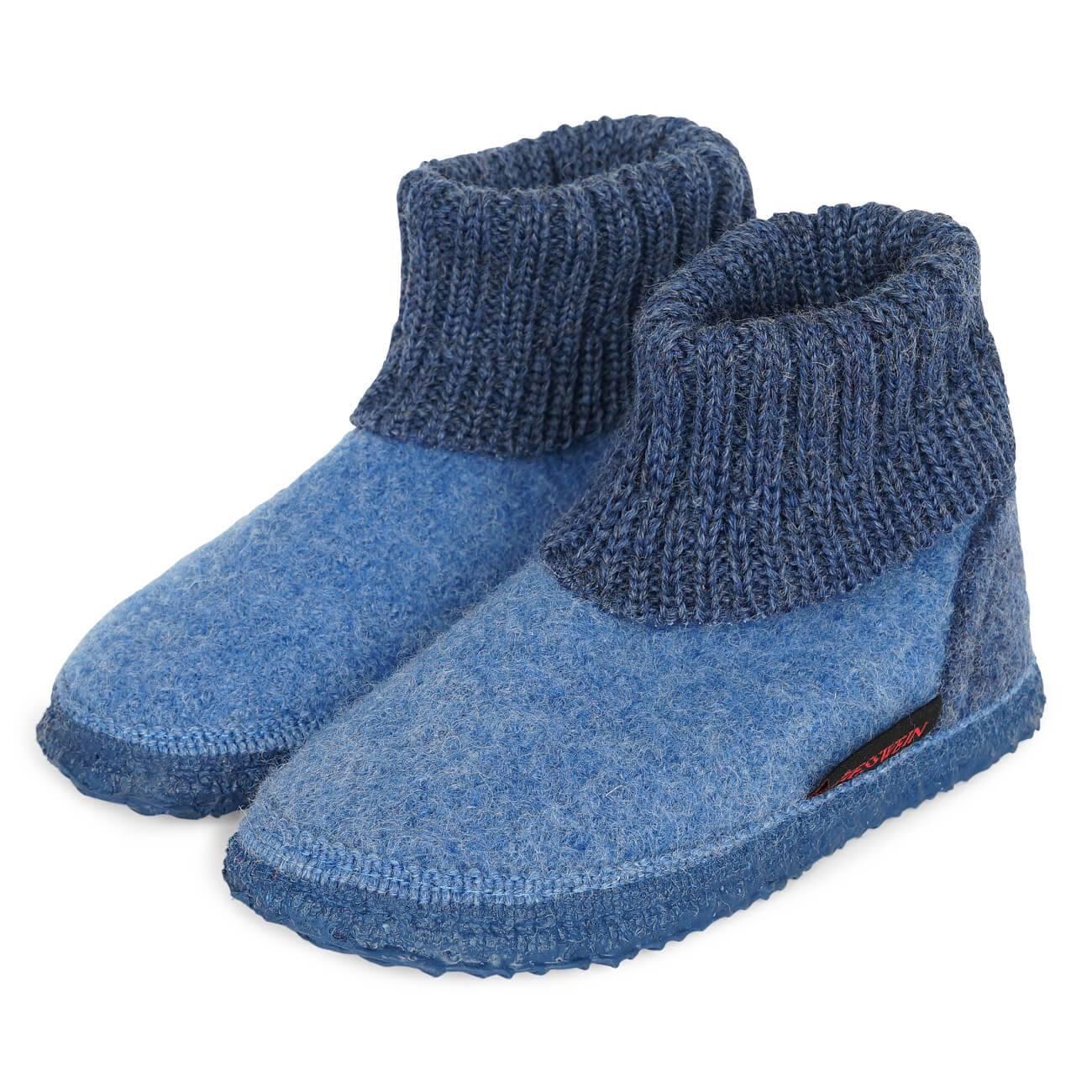 Giesswein Kramsach Kids blau capriblau Schuhe Hoher Hausschuh Damen