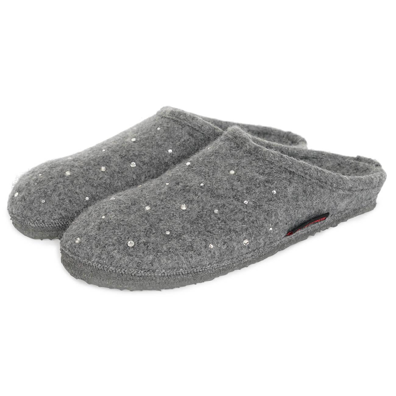 Giesswein Nagel grau schiefer Schuhe Pantoffel Hausschuhe Damen