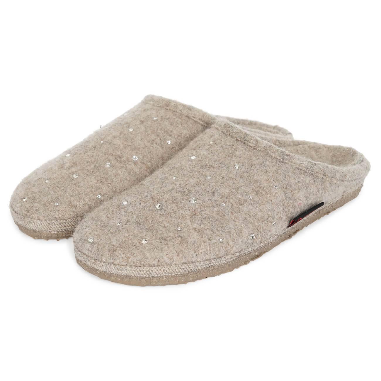Giesswein Nagel hellbraun beige natur Schuhe Pantoffel Hausschuhe Damen