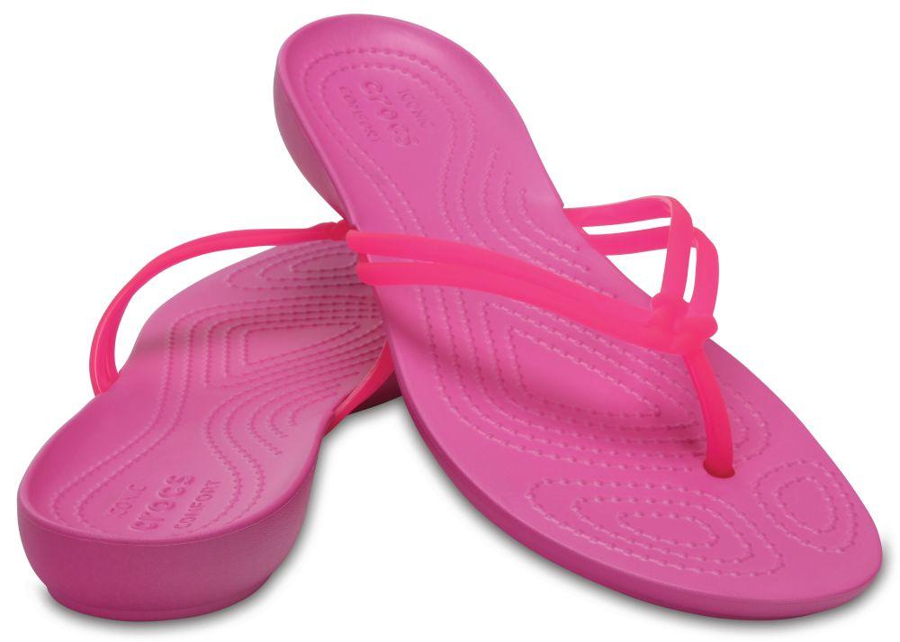 CROCS Isabella Flip Women Damen Zehenstegsandale pink Vibrant Pink Party Pink