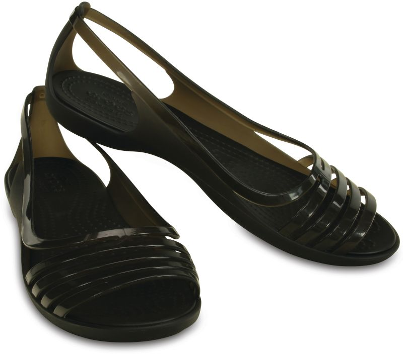 Crocs Isabella Huarache Flat Schwarz Damen Sandale Schuhe Fachhändler ISHU1