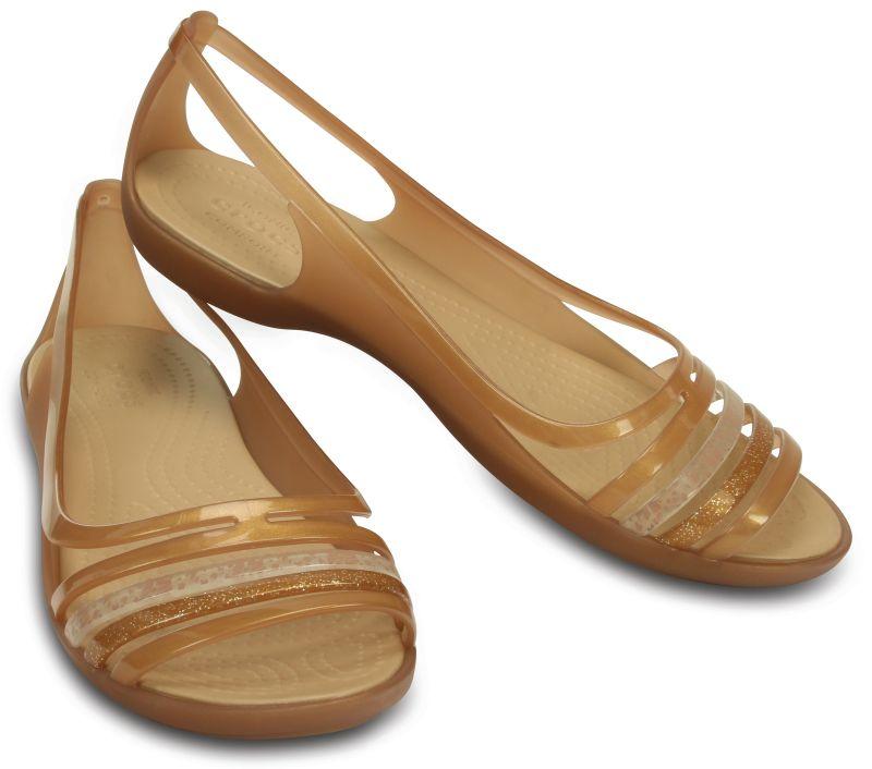 Crocs Isabella Huarache Flat Braun Bronze Damen Sandale Schuhe Fachhändler ISHU2