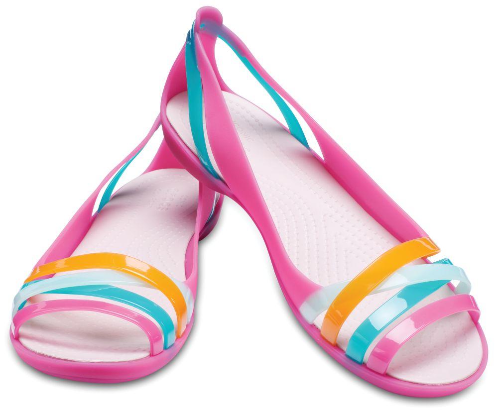 CROCS Isabella Huarache Flat 2 Women Sandalen Ballerina pink Paradise Rose Dust